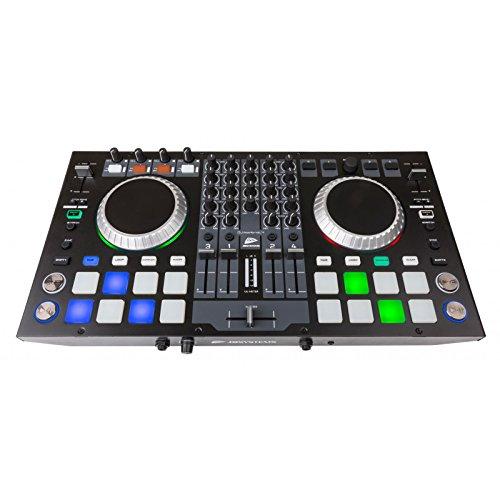 JB Systems de DJ Kontrol 4profesional de 4canales Controlador MIDI Incluye software Virtual DJ Le