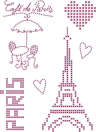 DMC Custom By Me Embroidery Transfer Magic Sheet Paris 1 (Dmc Transfer Embroidery)