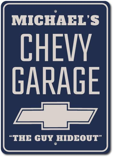 Personalized Corvette Garage Sign Personalized Chevy Man Cave Aluminum Decor