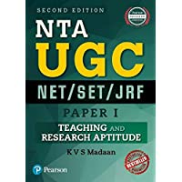 NTA UGC NET/SET/JRF - Paper 1: Teaching and Research Aptitude by Pearson (Old Edition)