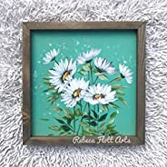 Daisies on Teal