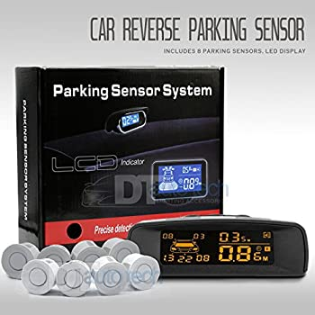 2018 Auto 4 Parking Sensors LCD LED Display Car Reverse Radar System Alarm Kit