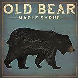 vintage advertisement - Old Bear by Ryan Fowler Vintage Advertisement Maple Syrup Wildlife Print Poster 18x18