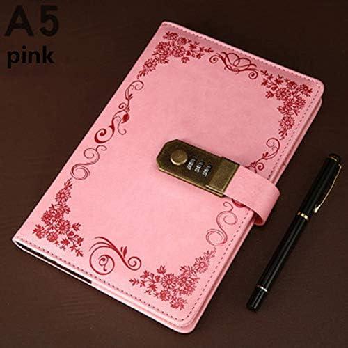 MaiTian Kreative Briefpapier Notebook Retro Passwort Buch mit Sperre Tagebuch Thread installiert Notizblock Business Books Schule Bürobedarf