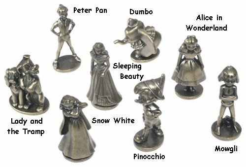 Disney Monopoly Replacement Pieces Tokens (8)
