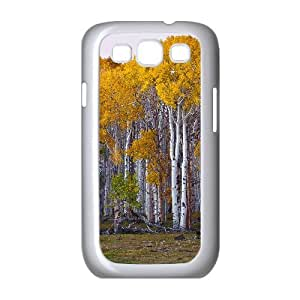 Yellow Trees Samsung Galaxy S3 Cases, Samsung Galaxy S3 Cases for Women Shock Absorb Okaycosama - White