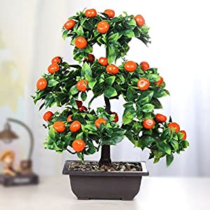 Suyunyuan Flowers plant pot flower plastic artificial tree fruit tree living room bonsai 56