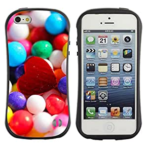 Pulsar iFace Series Tpu silicona Carcasa Funda Case para Apple iPhone 5 / iPhone 5S , Candy Heart