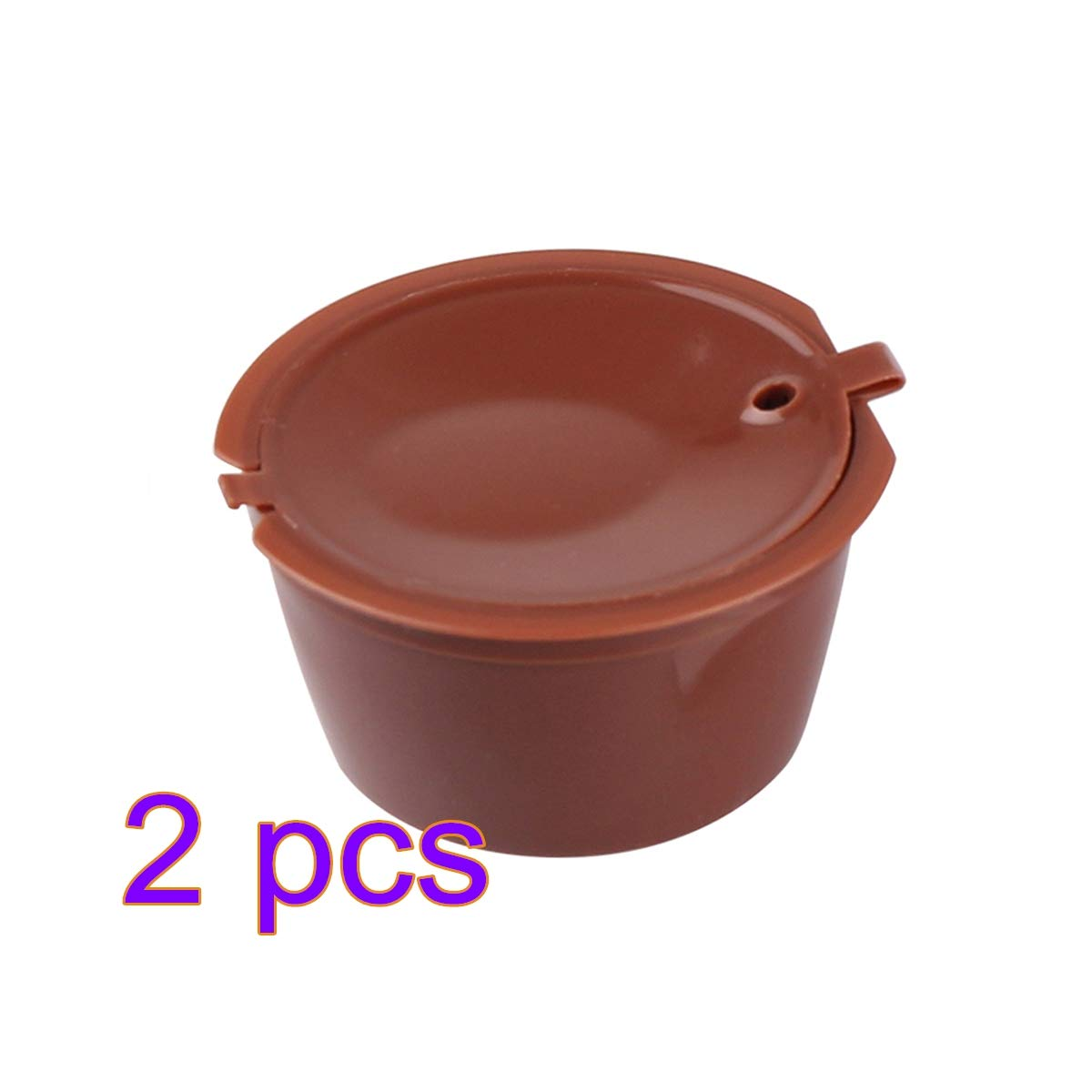Piccolo Esperta Y Circolo para Caf/éS Prenine C/áPsulas De Caf/é Acero Inoxidable Recargable Y Reutilizable Dolce Gusto Compatible con Nescafe Genio Paquete De 2