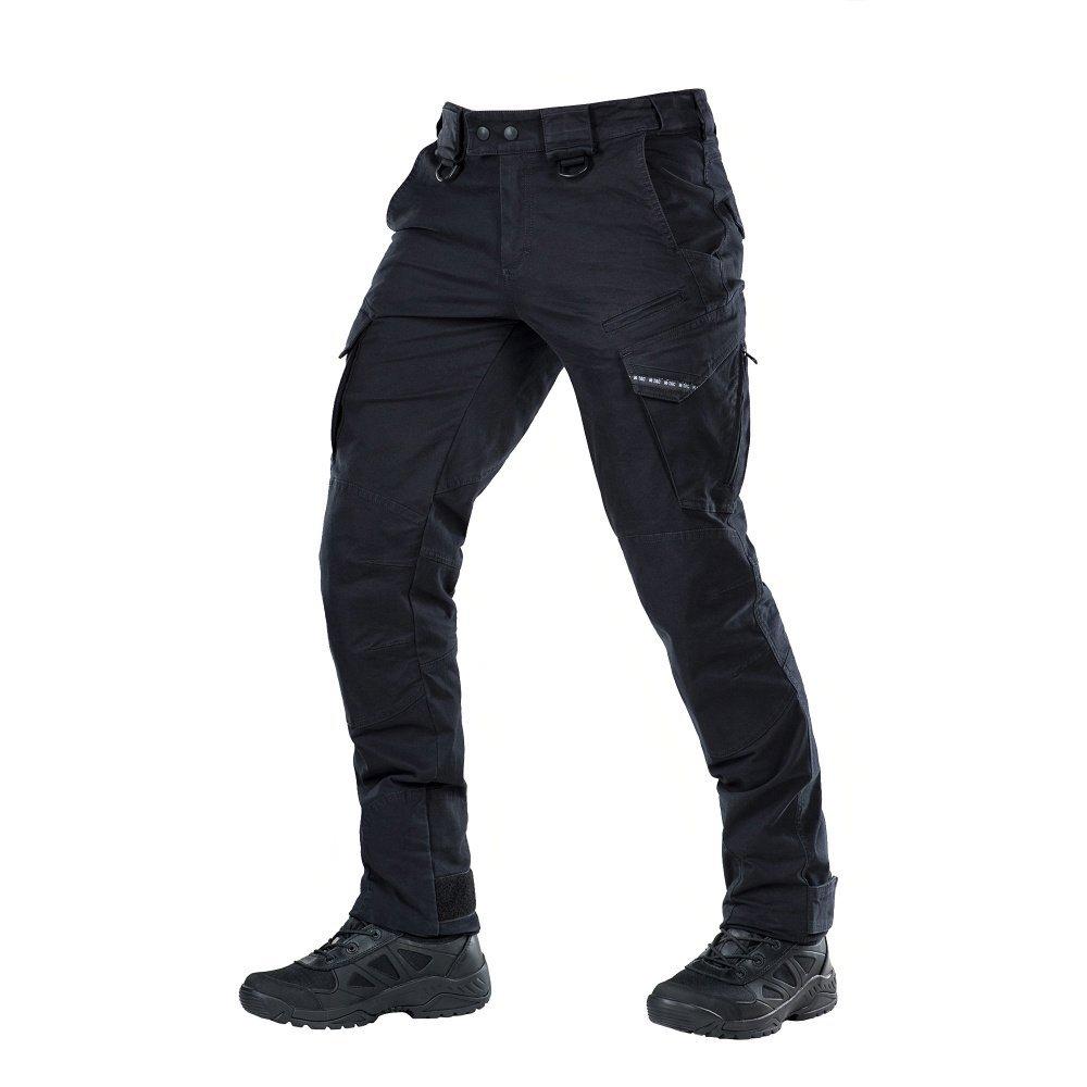 Aggressor Vintage Tactical Pants Men Black with Cargo Pockets (Black, XL/R)