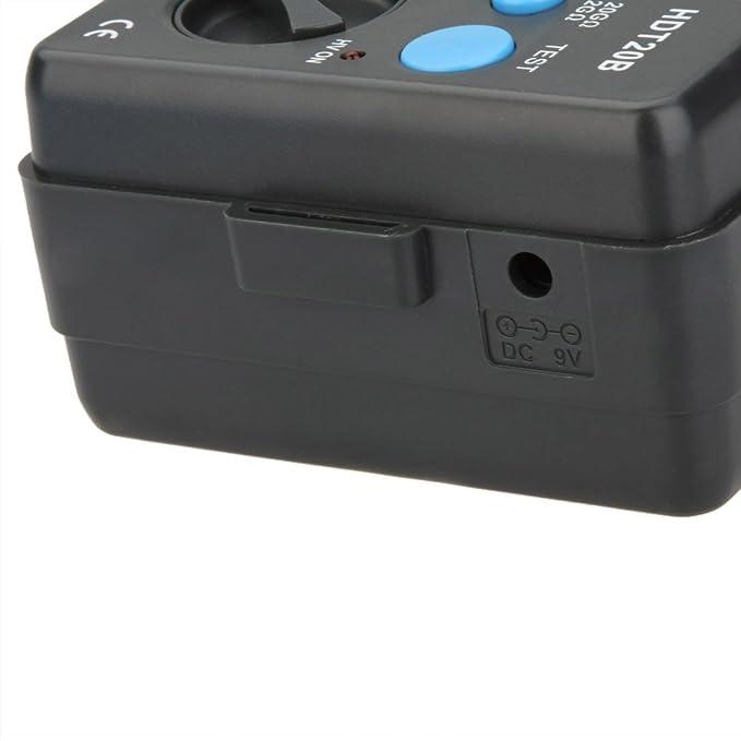 Hdt20b Insulation Resistance Tester Meter Isolationsmessgerät Megohmmeter Voltmeter 2500v W Lcd Hintergrundbeleuchtung Baumarkt