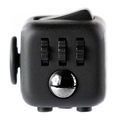 Price comparison product image Fidget Cube Toy For Anxiety, Stress Relief, Attention, Focus, For Children & Adults (Black)