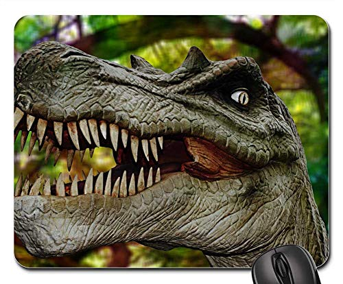 Mouse Pad - Dinosaur Forest Jungle Halloween Horror ()