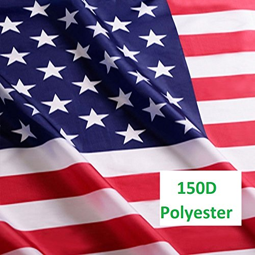 G128 - American USA US Flag Stars and Stripes 3x5 Ft Printed Polyester Brass Grommets 150D Quality Polyester American Flag Indoor/Outdoor - Much Thicker and More Durable than 100D and 75D Polyester (Printed Flag Polyester)