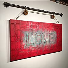 Amazon industrial wood signs rustic wall decor camera blueprint love abstract original acrylic large painting rustic decor industrial decor malvernweather Images