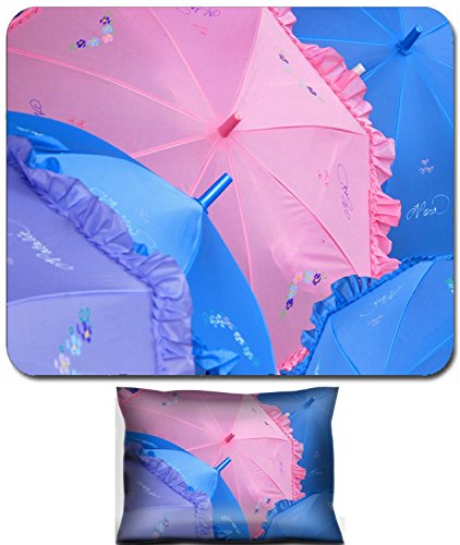 Liili Mouse Wrist Rest and Small Mousepad Set, 2pc Wrist Support IMAGE ID: 2009849 A collection of personalized parasols in many pastel colors