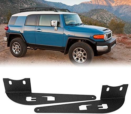 Brackets Fydun Curved LED Light Bar Mounting Brackets 1 Pair 52in for Toyota FJ Cruiser 2007-2014