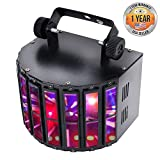 Party Projector DJ Dance Light - Tabletop or Ceiling Mountable Rave Party Stage lights w/ Color RGBWP LED Bulb, Flashing Disco Strobe lights, Beat Sync Motion Effect and DMX Control - Pyle PDJLT20