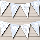 Boy Blue Stripes Spots Welcome Home New Baby Bunting Banner Garland