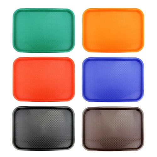 New Star 28010 Fast Food Tray, 12 by 16-Inch, Assorted 6 Colors in Each (Best Fast Food Dishes)