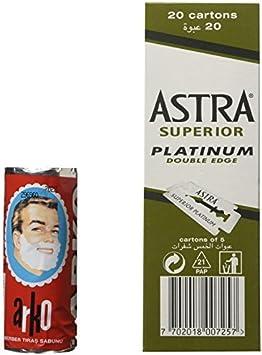 Astra E13 - Kit de afeitado manual para hombre