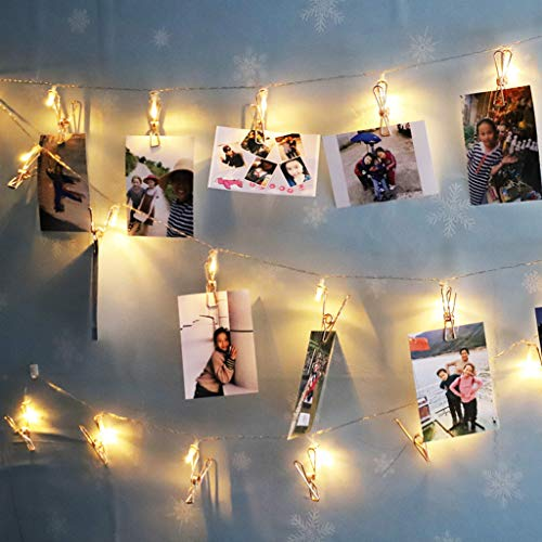 ghts String Photo Clip - Led Light Christmas Garland Wedding Party Home Decor,Fairy Ball Shaped Lamp Outdoor Decor (A) ()