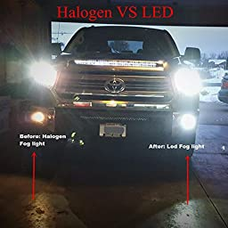 Alla Lighting 80W High Power Extremely Super Bright White PSX26W 12278 12278C1 H28W LED Bulbs for Daytime Running Light DRL Lamps Replacement