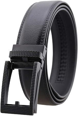 DENGDAI Mens Casual Belt Leather Belt Leather Belt Length 110-130cm