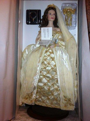 Franklin Mint Faberge冬のAleksandra Bride Porcelain人形