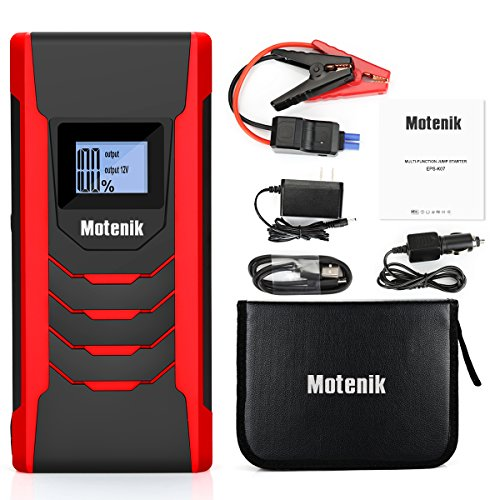 800A Peak Jump Starter with Emergency Light 4 Modes Motenik Car Jump Starter(Up to 6.5L Gas or 5.0L Diesel Engines) Auto Battery Booster Dual USB Power by Motenik (Image #6)