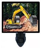Childrens Night Light - Construction Crawler-Excavator