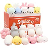 Satkago Mochi Squishys Toys, 20 Pcs Mini Mochi Squishies Toys Party Favors Panda Squishys Kawaii Squishys Cat Stress Reliever Toys