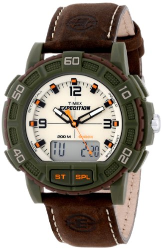 Analog Combo (Timex Men's T49969 Expedition Analog and Digital Display Resin Watch with Leather Strap)