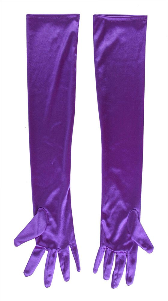 SACAS Long Bridal Satin Gloves in Purple One Size 3GLDA7281C-AS07