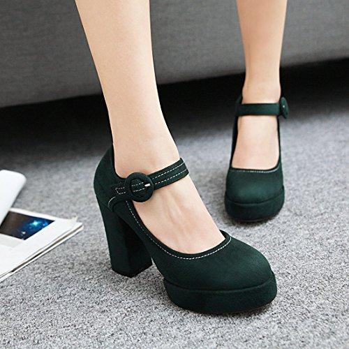 alla Donna Verde YE caviglia Scarpe cinturino con aXwwntxC