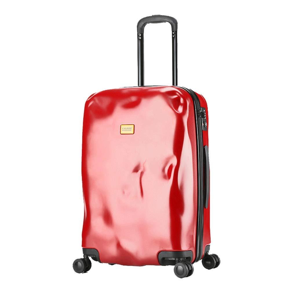 軽量24インチホイールトラベルバッグスーツケースラゲッジスーツケーススーツケース(ブラック)-red B07T48SPMT red