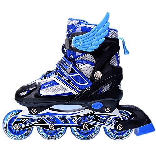 uruoi-unisex-adjustable-glittery-inline-roller-skates-blue-medium