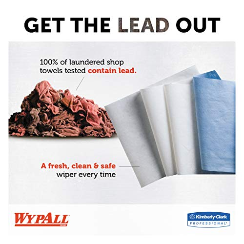 WypAll 34790CT X60 Cloths POPUP Box White 9 18 x 16 78 126 per Box Case of 10 Boxes
