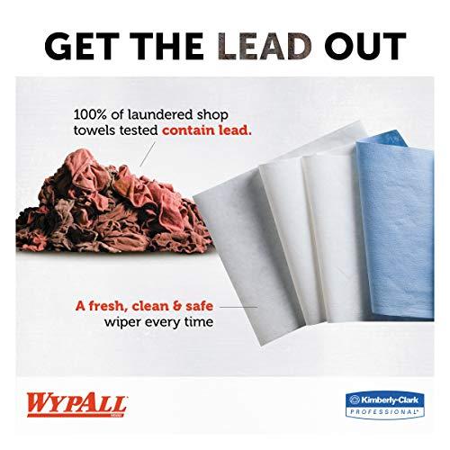 WypAll 34790CT X60 Cloths, POP-UP Box, White, 9 1/8 x 16 7/8, 126 per Box (Case of 10 Boxes)