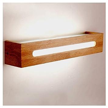 Parfait FJH Led Solide Bois Applique Chambre Chevet Lampe Salle De Bains Maquillage  Miroir Cabinet Lampes (