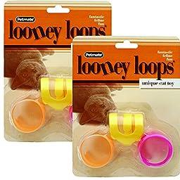 PETMATE 26333 Looney Loops Cat Toy, 2 Pack