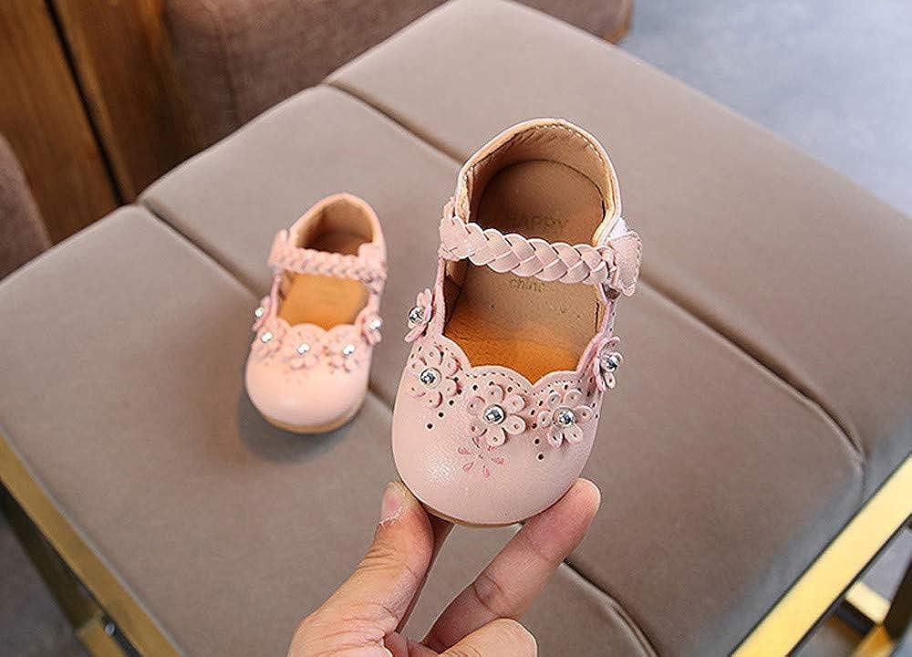 ❤️ Zapatos Bebe ni/ña Primeros Pasos,La Flor de los ni/ños teji/ó la Parte Inferior Suave Zapatos peque/ños Guisantes Zapatos Solos Zapatos Casuales Absolute