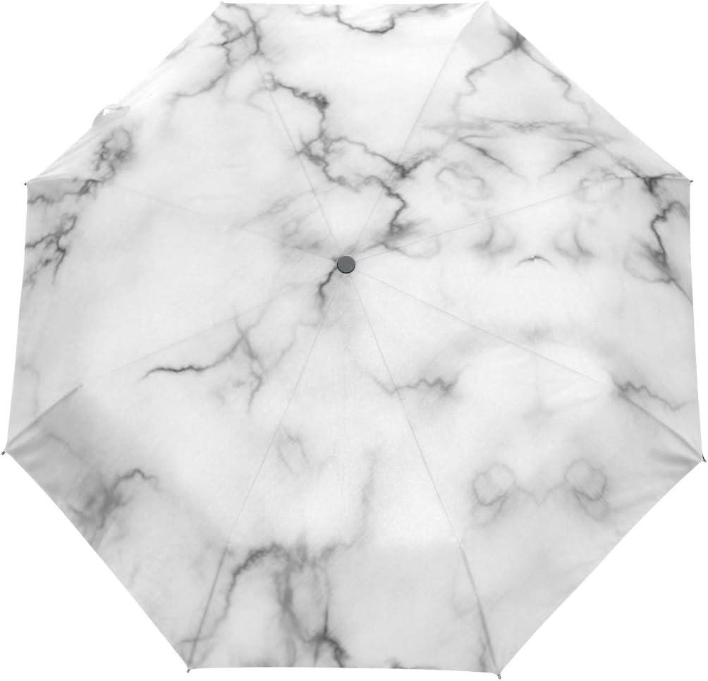 Rock Type Marble fashion print cute Windproof automatic tri-fold umbrella sun UV protection Sun umbrella