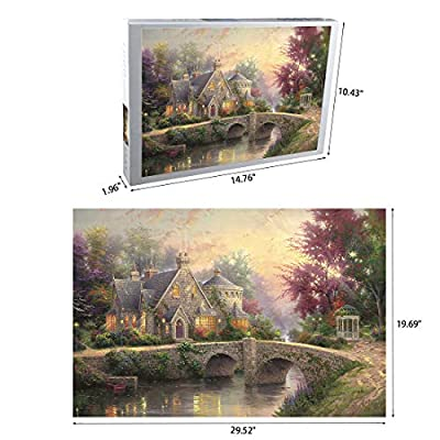 Jigsaw Puzzles 1000 Pieces for Adults Kids Spring Thomas Kinkade Large Puzzle Game Toys Gift: Toys & Games