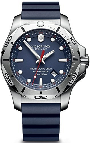 Victorinox Swiss Army I.N.O.X. Professional Diver 241734.1 Blue / Blue Rubber Analog Quartz Men's Watch