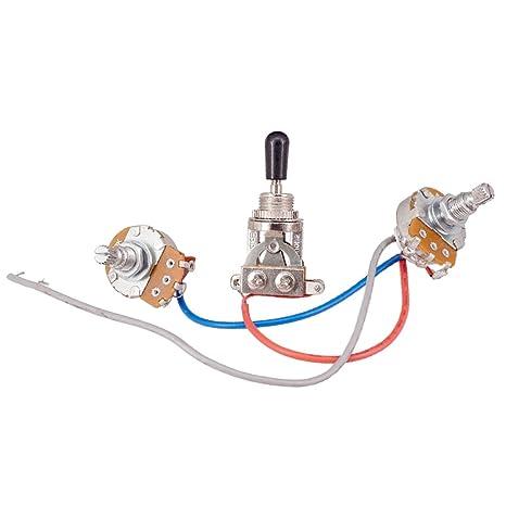 Gazechimp Kit De Cableado De Circuito Completo 2-500k Interruptor De 3 Vías Para Guitarra
