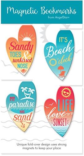 AngelStar Coastal Surfboard Magnet Bookmark Set