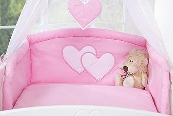 Fabrication européenne Tour de lit bébé gris à coeur Bébé ...