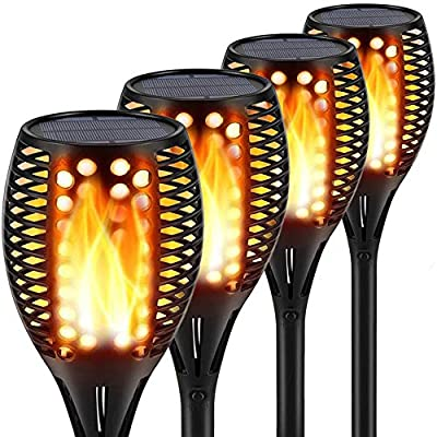 Topmante Upgraded Solar Lights 96 LED 42.9 Inch, Waterproof Flickering Flames Torches Lights Outdoor Solar Spotlights Landscape Lighting Dusk to Dawn Auto On/Off Security Torch Light