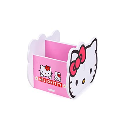 d6ec29606 Image Unavailable. Image not available for. Color: YOURNELO Cute Wooden Hello  Kitty DIY Pen Pencil Holder ...